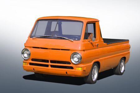 pick up: Small orange pick up  Stock Photo