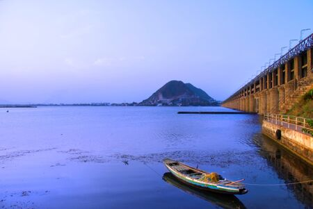 Prakasam Barrage bridge  photo