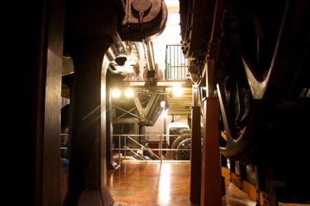 heavy industry: Heavy machinery in side an industry