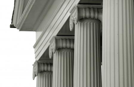 derecho romano: Los pilares de un edificio histórico