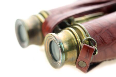 antique binoculars: Close up shot of vintage binoculars