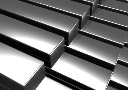 steel bar: An illustration of stack of 3d metal bars