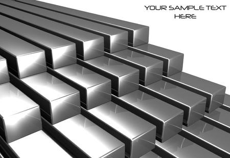 3D 반짝이 금속 막대 스톡 콘텐츠