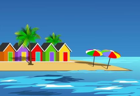 Un paisaje, ilustración pintoresca playa Foto de archivo - 14295905