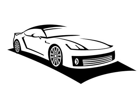 silhouette voiture: Mon propre concept de voiture de sport fait de l'art en ligne