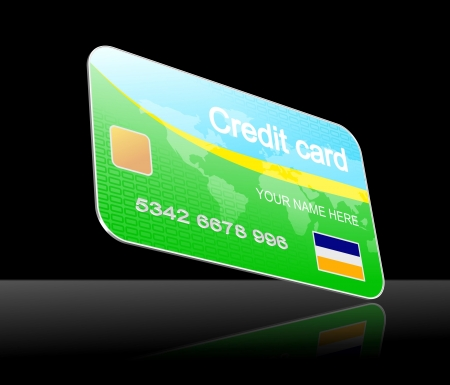 functionality: An illustration of 3d model of credit card