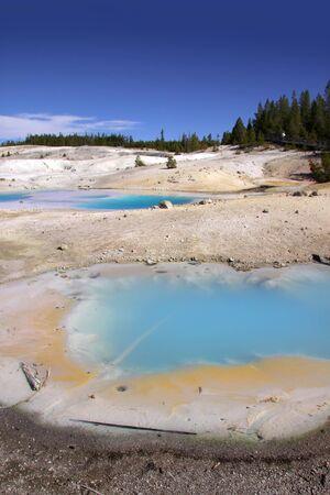 aquifer: Norris basin Geyser in Yellowstone national park