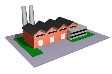 3d illustration du concept de taille petite et moyenne industrie Banque d'images - 14296501