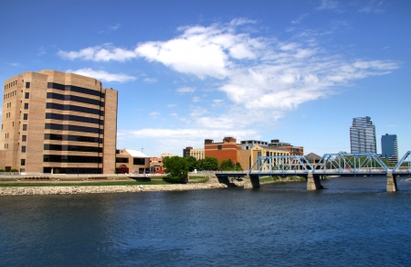 Beautiful Downtown Grand Rapids in Michigan