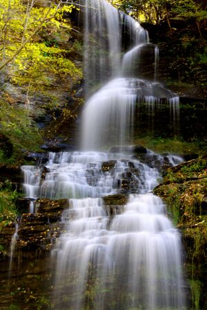 west virginia trees: Beautiful Cascade water falls in West Virginia