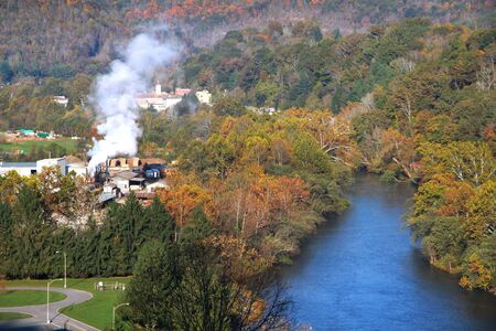 west virginia trees: Beautiful Sutton city in West Virginia
