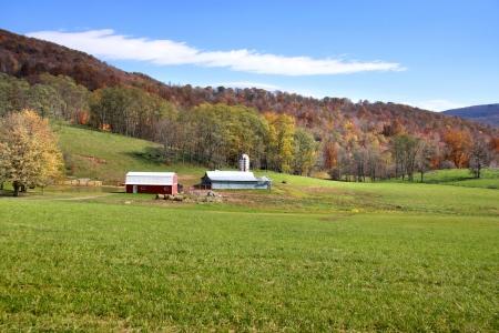 Beautiful farm scene in West Virginia Redactioneel