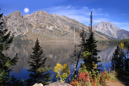 natural wonders: Beautiful Grand Tetons and Jenny lake