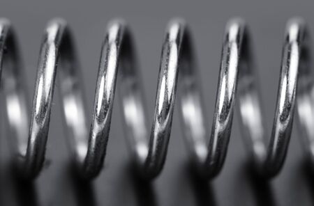 Extreme close up shot of spring coils Stock Photo - 15494260
