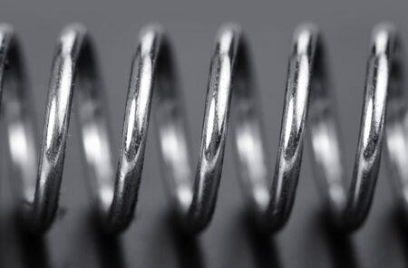 spirale: Extreme Nahaufnahme von Federwindungen erschossen