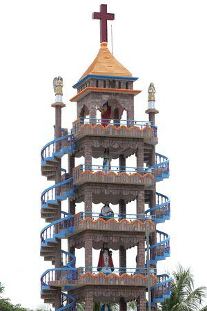 thomas: Tall unique  church tower