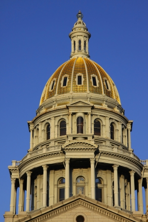 Architecture of Colorado state capital building 版權商用圖片