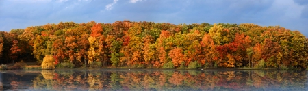 Scenic Kent lake in Oakland county,Michigan photo