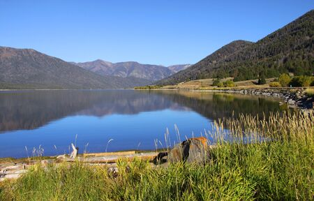 grayling: Hebgen lake in Montana close to Yellowstone national park