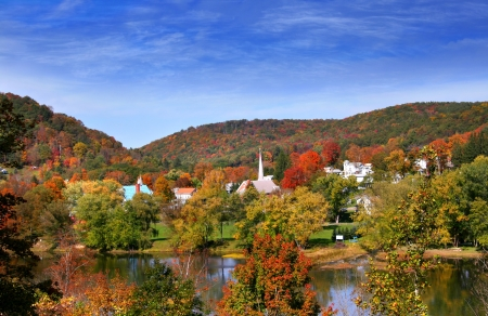 Tidioute town in Pennsylvania Stock Photo - 16155191