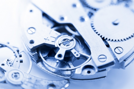 spare time: watch mechanism and with its spare parts