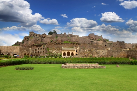 golconda: 400 year Golkonda fort in Hyderabad India