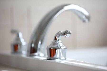 close up: Close up shot of nice tub faucet
