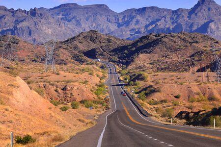 rugged terrain: Road through rugged terrain