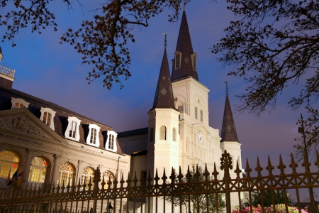 St Louis Cathedral at Jackson square in French quarter, New Orleans  photo