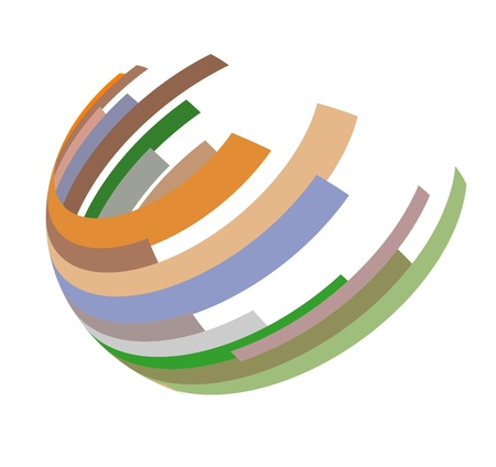 hemisphere: An illustration of abstract hemisphere icon Stock Photo
