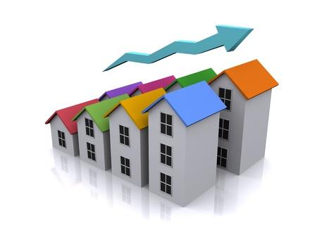3d real estate icon Stock Photo - 17067883