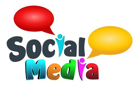 An illustration of colorful social media icon  illustration