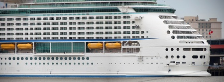 luxury liner: Panoramic view of large cruise liner