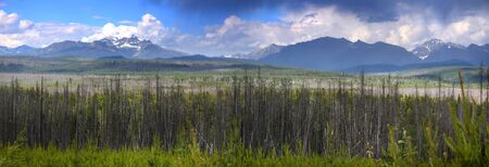 Panoramic view of scenic Montana landscape photo