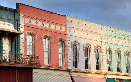 mississippi: Row of historic downtown shops
