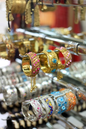 Colorful and beautifully crafted Indian bangles photo