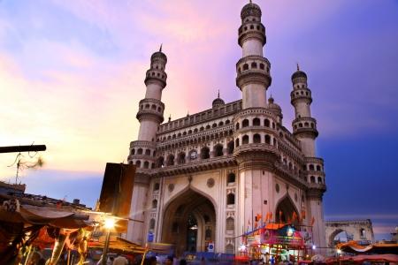 400 Year old historic Charminar in Hyderabad India 에디토리얼