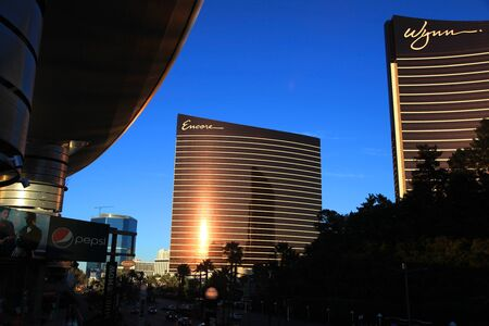 LAS VEGAS - DEC 27  LasVegas hotels and casino on December 27, 2012 in Las Vegas  2012 hit record number of visitors over 39 7million