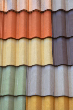 background of colorful roof tiles photo