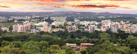 Panoramic view of Hyderabad city in India photo