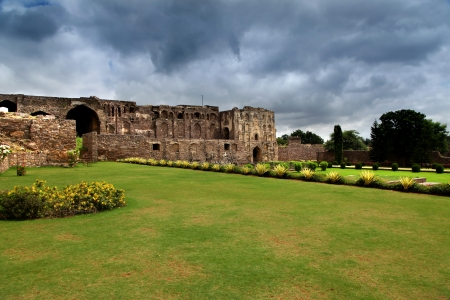 golconda: Historic Golconda fort in Hyderabad, India