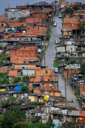 Houses in the favellas of Brazil ,A poor neighborhood near Sao Paulo