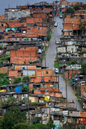 Houses in the favellas of Brazil ,A poor neighborhood near Sao Paulo