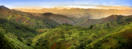 Panoramic view of mountains in Brazil 스톡 콘텐츠