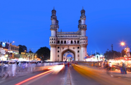 HYDERABAD,INDIA -AUGUST 29    Charminar in Hyderabad on August 29,2012, Is listed among the most recognized structures in India, Built in 1591  Stock Photo - 18509268