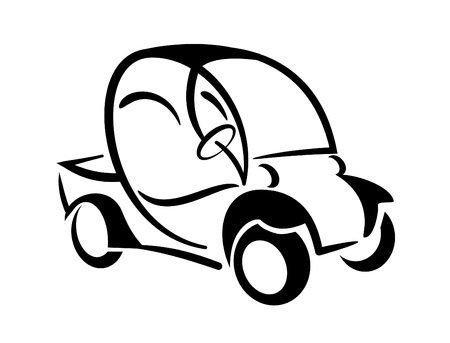 An illustration of club car icon illustration