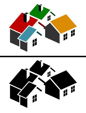 Colorful real estate icon Vector