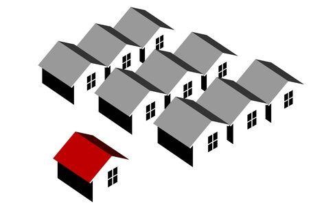 settlements: Unique home concept Illustration