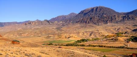 fells: Scenic landscape in Wyoming near Buffalo Bill state park Stock Photo