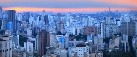 Panoramic view of Sao palo skyline